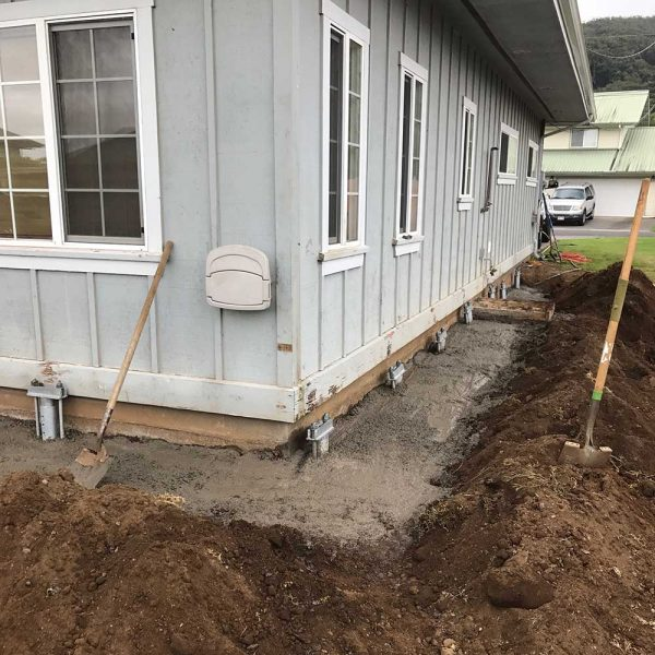 Finished Foundation Repair With Concrete Kona HI